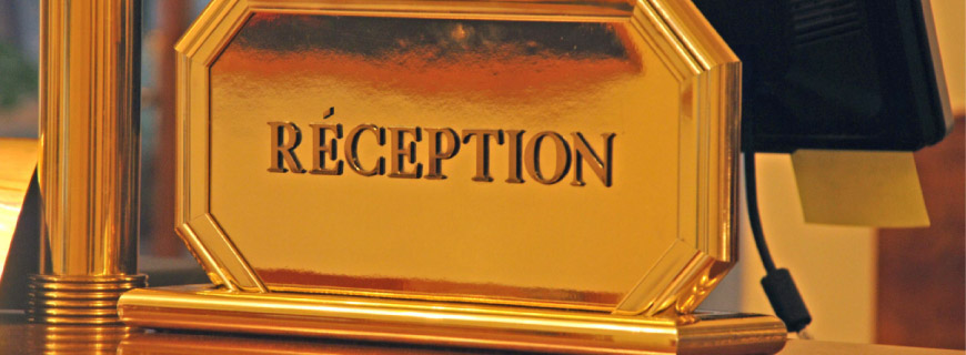 Reception nameplate